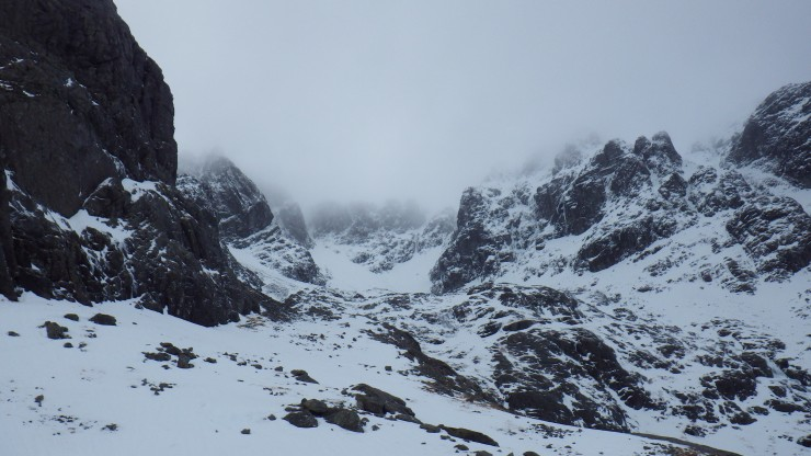 Looking up into Coire na Ciste.