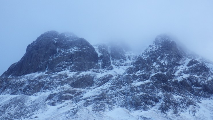 Carn Dearg Buttress between showers.