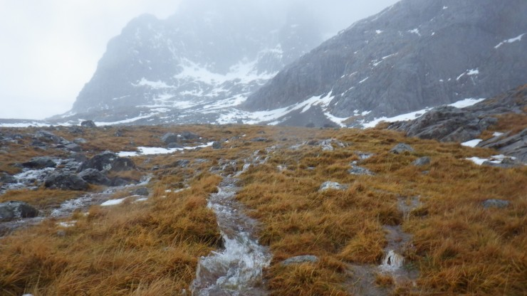 Water was pouring out of the ground and snowpack all over the place.