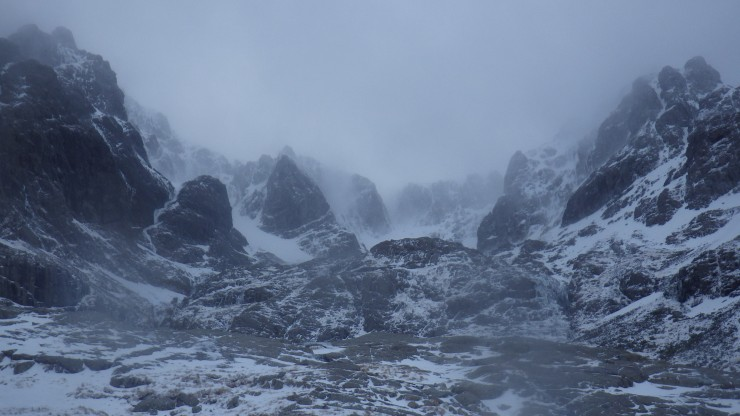 Coire na Ciste looking somewhat like Mordor today.
