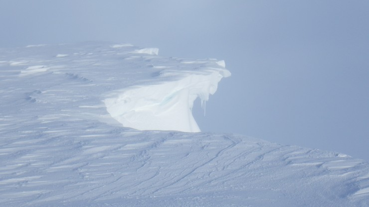 Plenty of fresh fragile looking cornices about.