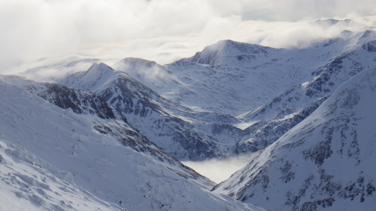 View SSW from Aonach Mor.
