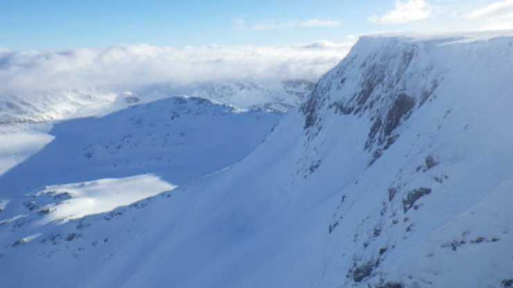 Looking south from Easy Gully, Aonach Mor