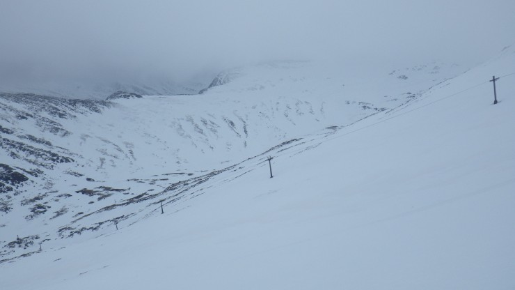 Looking over the Braveheart chair towards Stob a Cul Choire.