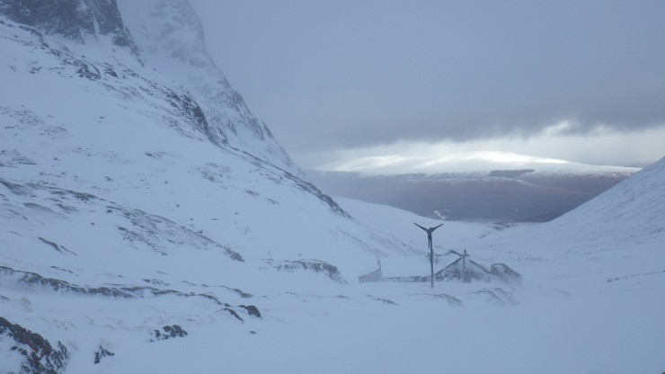 Quite snowy up at the CIC hut.