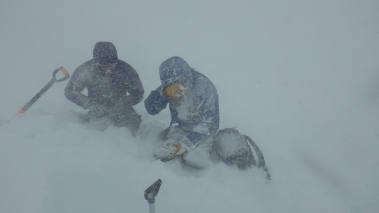 Quite wild conditions in during snow showers.