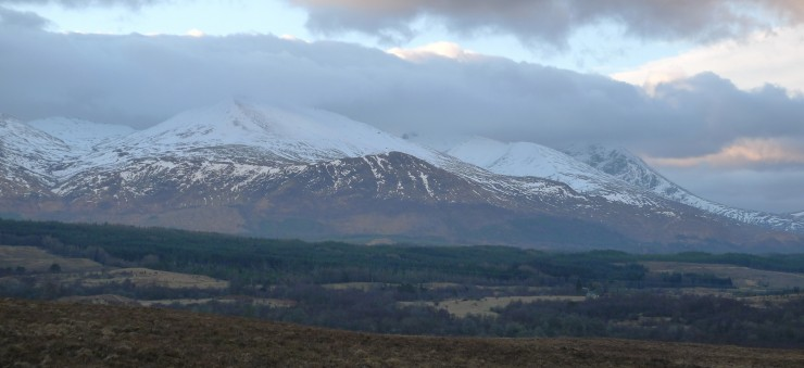 Aonach Mor from the Commando Monument this morning.