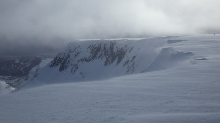 Coire an Lochan crags, southern side.