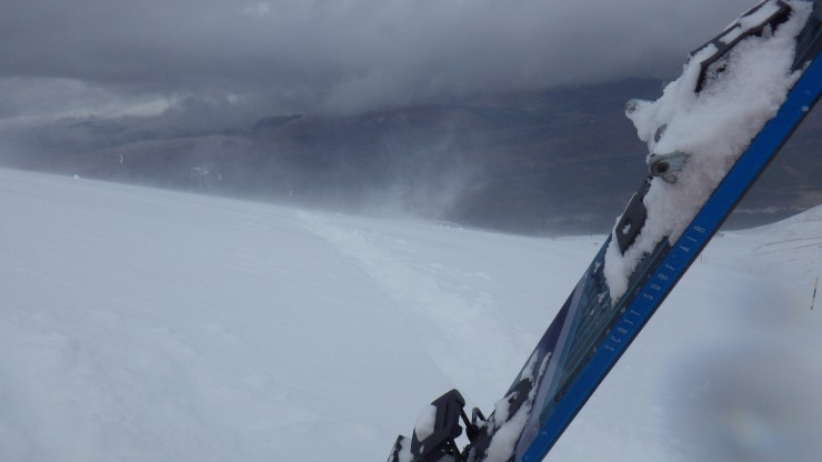 Skinning up to the fresh snow