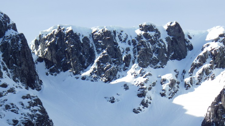 Looking into Coire na Ciste, between No3 Gully and North Gully