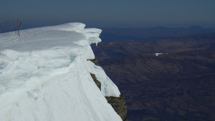 Some weak cornices remain. ONly a matter of time before these ones drop off.