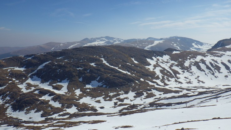 View Eastwards from Coire Dubh on Aonach Mor.
