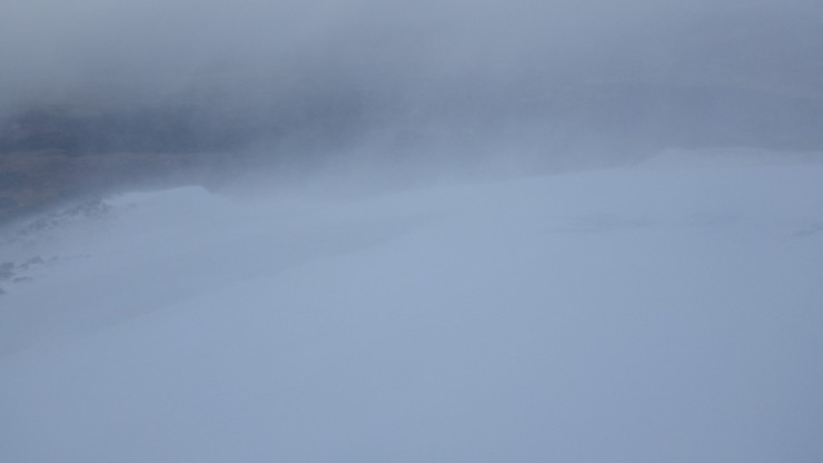 Snow drifting continued through the day.