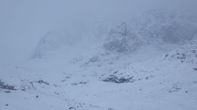 The bottom of North-East Buttress and Tower ridge.