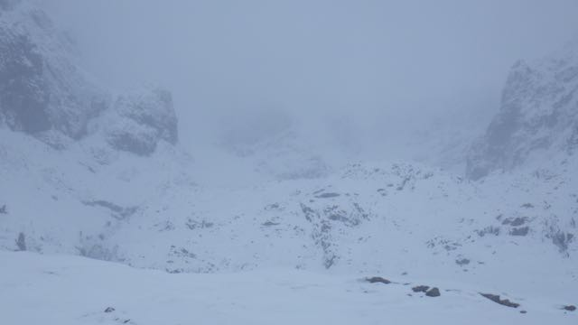 Looking into Coire na Ciste.
