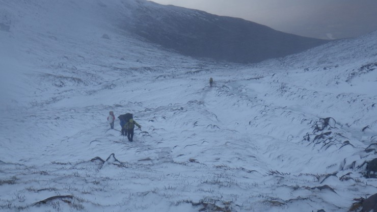 On the way to the CIC Hut