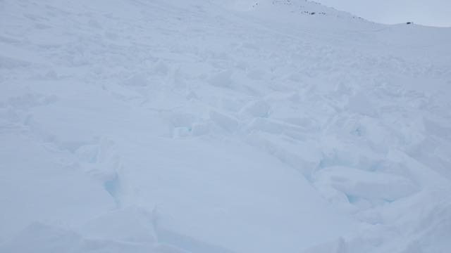 Debris from this slab avalanche.