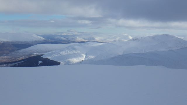 The Grey Corries and beyond from Aonach Mor.