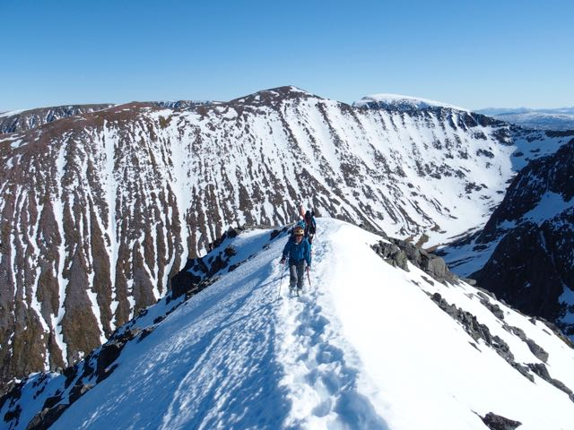 East side of Carn Mor Dearg from Ledge Route.