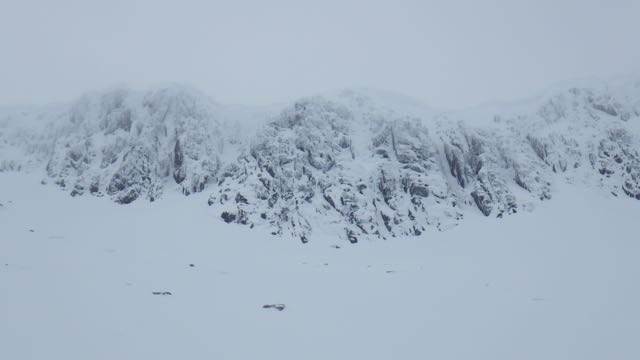 Climbing in Coire an Lochan looked good but cornices above many routes