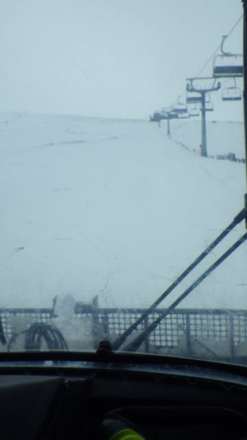 Many thanks to Nevis Range for a groomer ride to the summit today.