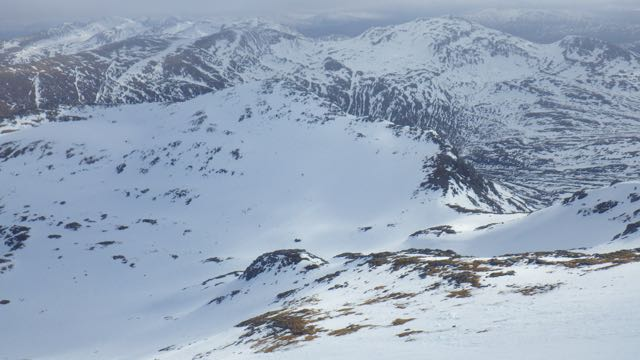 Still good snow cover in the main East and North facing corries