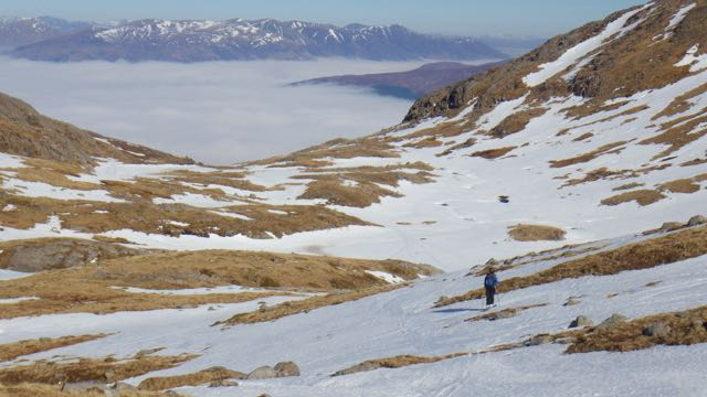 Cloud in the valley from an overnight temperature inversion.
