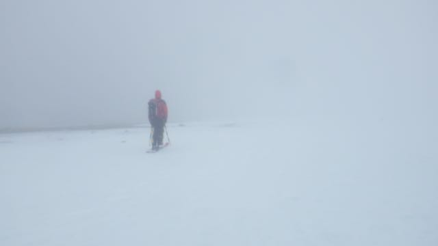 Poor visibility at 1200 metres.
