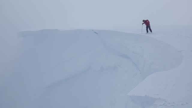 Where has my cornice gone? It failed around 2m back from the edge