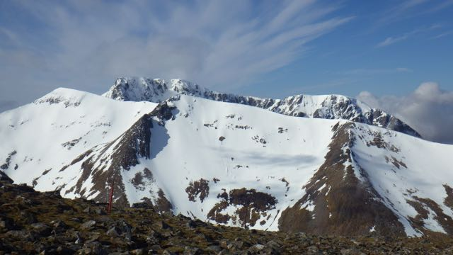 Carn Mor Dearg with Ben Nevis behind.