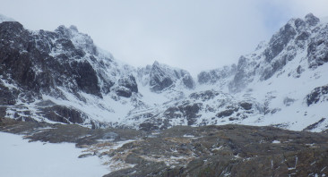 Snow showers on Ben Nevis.