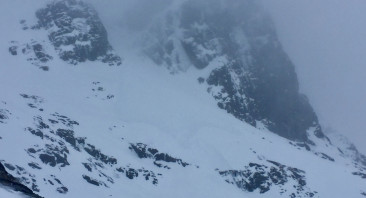 Wet day with avalanche activity